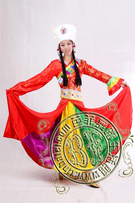 藏族水袖舞蹈服装出租 溜溜的康定藏族服装