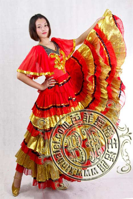 半袖西班牙 _西班牙佛罗明哥_服装展示_北京舞蹈服装