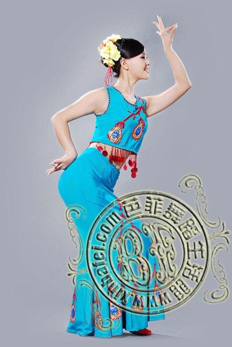 碧海蓝天 傣族服装