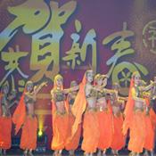 橙色波斯肚皮舞蹈