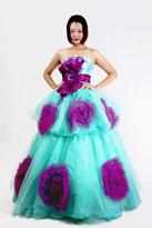 紫色晚礼服