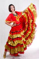 西班牙半袖舞裙