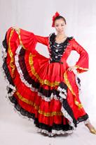 西班牙长袖舞裙