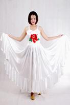 白牡丹伴舞裙