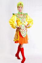 黄色短款蒙古服装
