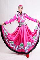 粉色顶碗舞蒙古服装