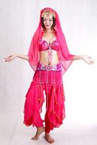 粉色肚皮舞服装