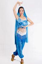 蓝色印度服装