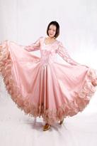 淡粉色国标舞裙