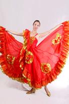 牡丹花开西班牙舞裙