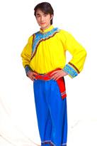 黄色长袖 彝族服装