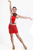 漆皮红黑现代舞