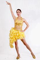 黄色拉丁舞 现代舞