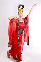 红唐装 古典舞服装