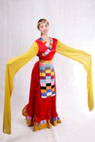 红身黄袖 藏族服装