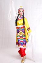 黄色短款 藏族服装