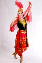 小辫红新疆舞蹈服装
