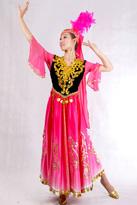 粉色羽毛 新疆服装