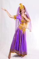紫色 印度新疆舞蹈服
