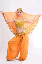 橙波斯 新疆舞蹈服装