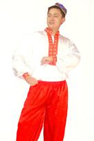 维族男(红白)新疆服