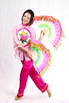 粉色纱袖 汉族舞蹈服