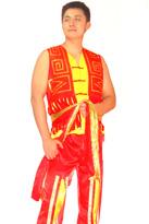 红黄色 男士汉族服装