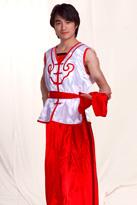 红白色 男士汉族服装