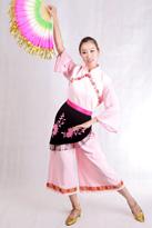 粉黑围裙 秧歌演出服