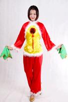 红黄福字 汉族舞蹈服
