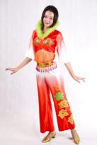 绿毛领 汉族演出服装
