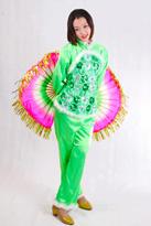绿色亮片 汉族舞蹈服