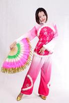 粉色亮片 汉族演出服