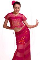 粉色半袖 傣族舞蹈服
