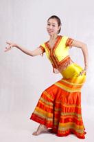 黄色半袖 傣族舞蹈服