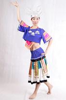 蓝色苗族 舞蹈演出服