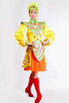 黄色短款 蒙古演出服