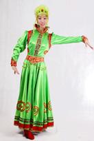 绿色顶碗 蒙古舞蹈服