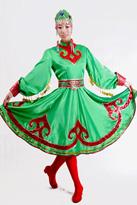 绿色短款 蒙古舞蹈服