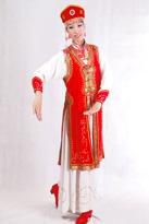 红色长袍 蒙古演出服