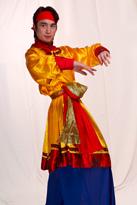 黄色蒙古袍 演出服装