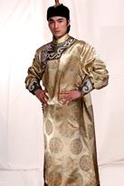 金色长袍 蒙古演出服