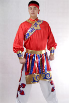 新款红色 蒙古舞蹈服