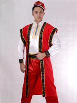 红色长马夹 新疆演出