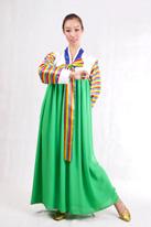 绿色 朝鲜族演出服装