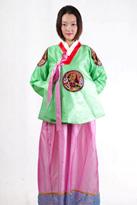 紫绿色 朝鲜族演出服