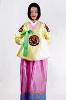 黄紫色 朝鲜族舞蹈服