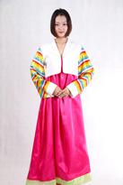 白粉色 朝鲜族演出服