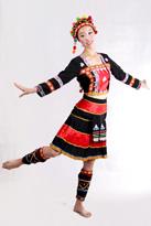 黑色苗族 舞蹈演出服