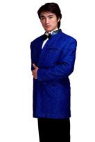 宝蓝色男主持服独唱服